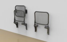 "All-metal seats ""Palati"" with wire-mesh seating area"